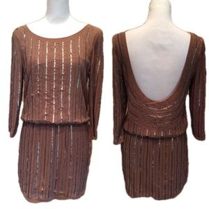Open Back Dress Beaded Pullover Sara Boo NWT